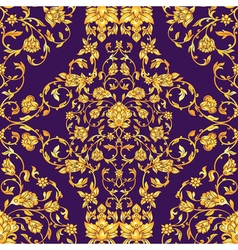 Ornate seamless pattern in eastern style on deep vector