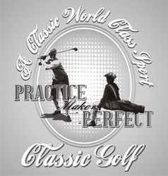 golf practice vector image