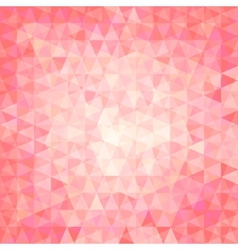 Pink triangular background vector