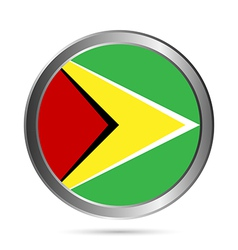 Guyana flag button vector