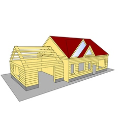 New build house vector