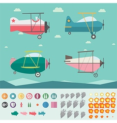 Plane game asset vector