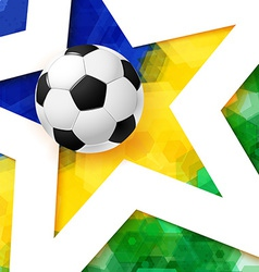 Soccer football poster mosaic background in brazil vector