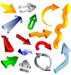 3d vector arrow collection vector image