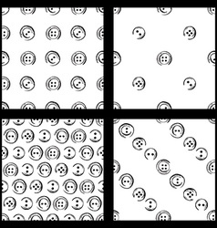 Set of seamless pattern of buttons vector
