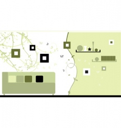 design interior green style vector image