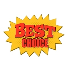 Best choice comics icon vector