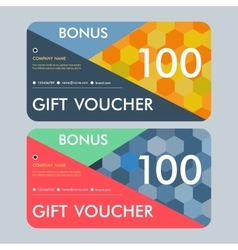 Gift voucher template with modern pattern vector