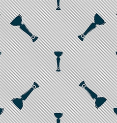 Trophy icon sign seamless pattern with geometric vector