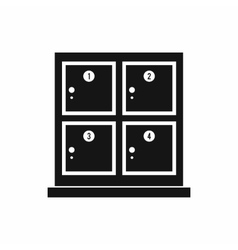 Cells for storage in the supermarket icon vector