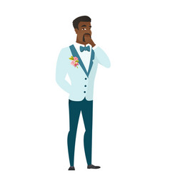 African groom thinking vector