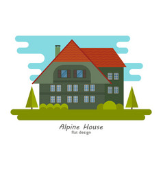 Alpine house vector