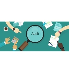 Audit financial company tax investigation process vector