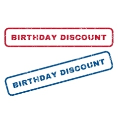Birthday discount rubber stamps vector