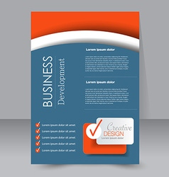 Brochure design flyer template editable a4 poster vector