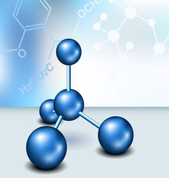 Chemistry text frame with blue molecule vector