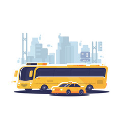 City public transport vector