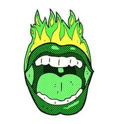 Comic cartoon halloween mouth vector