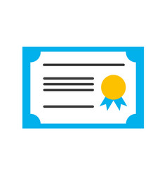 Diploma graduation isolated icon vector
