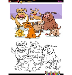 dogs group for coloring vector image vector image
