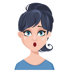 facial expression of a woman - surprised vector image