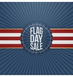 Flag day sale realistic badge with ribbon vector