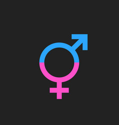 Gender equal sign icon men and woomen equal vector