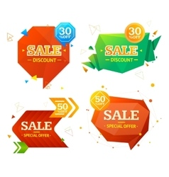 Geometry Sale Label Set vector image