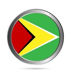 Guyana flag button vector image