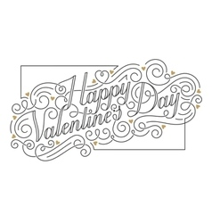 Happy valentines day card hand drawn vector