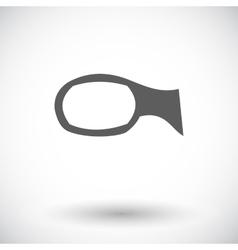 Mirror single icon vector
