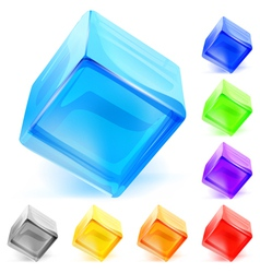 Opaque glass cubes vector image vector image
