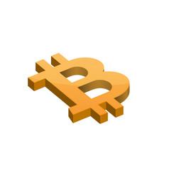 orange bitcoin symbol vector image vector image