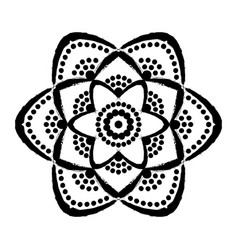 painted flower dots mandala vector image vector image
