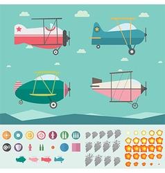 Plane game asset vector