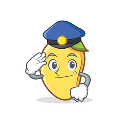 Police mango character cartoon mascot vector