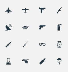 Set of 16 simple war icons can be found such vector