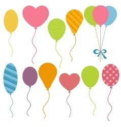 Set of Birthday balloons vector image vector image