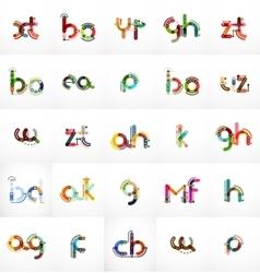 Set of initial branding letter logo vector