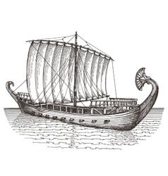 ship logo design template boat or vector image vector image