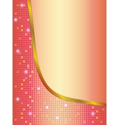 wave background with mosaic vector image vector image