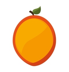Mango fresh fruit icon vector
