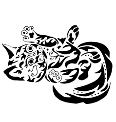 High quality kitty tattoo vector