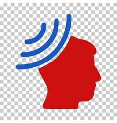 Radio reception mind icon vector