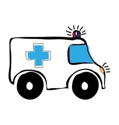 Ambulance medical icon image vector