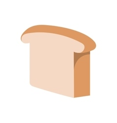 Toast bread isolated icon vector