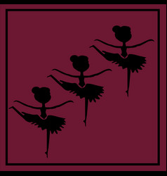 Three ballerinas vector