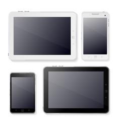Tabet horizontal and phone ui web design template vector