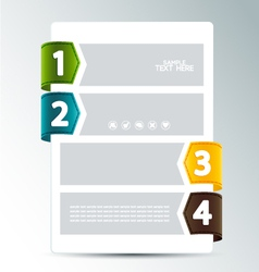 Numbered options vector