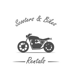 Sale and rental of bikes vector
